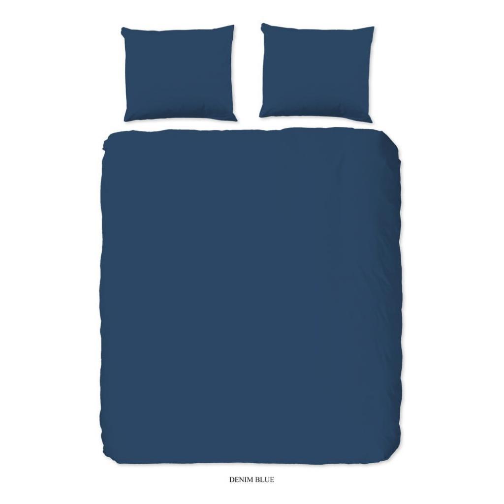 Produktové foto Modré bavlněné povlečení na dvoulůžko Good Morning Universal, 200 x 220 cm