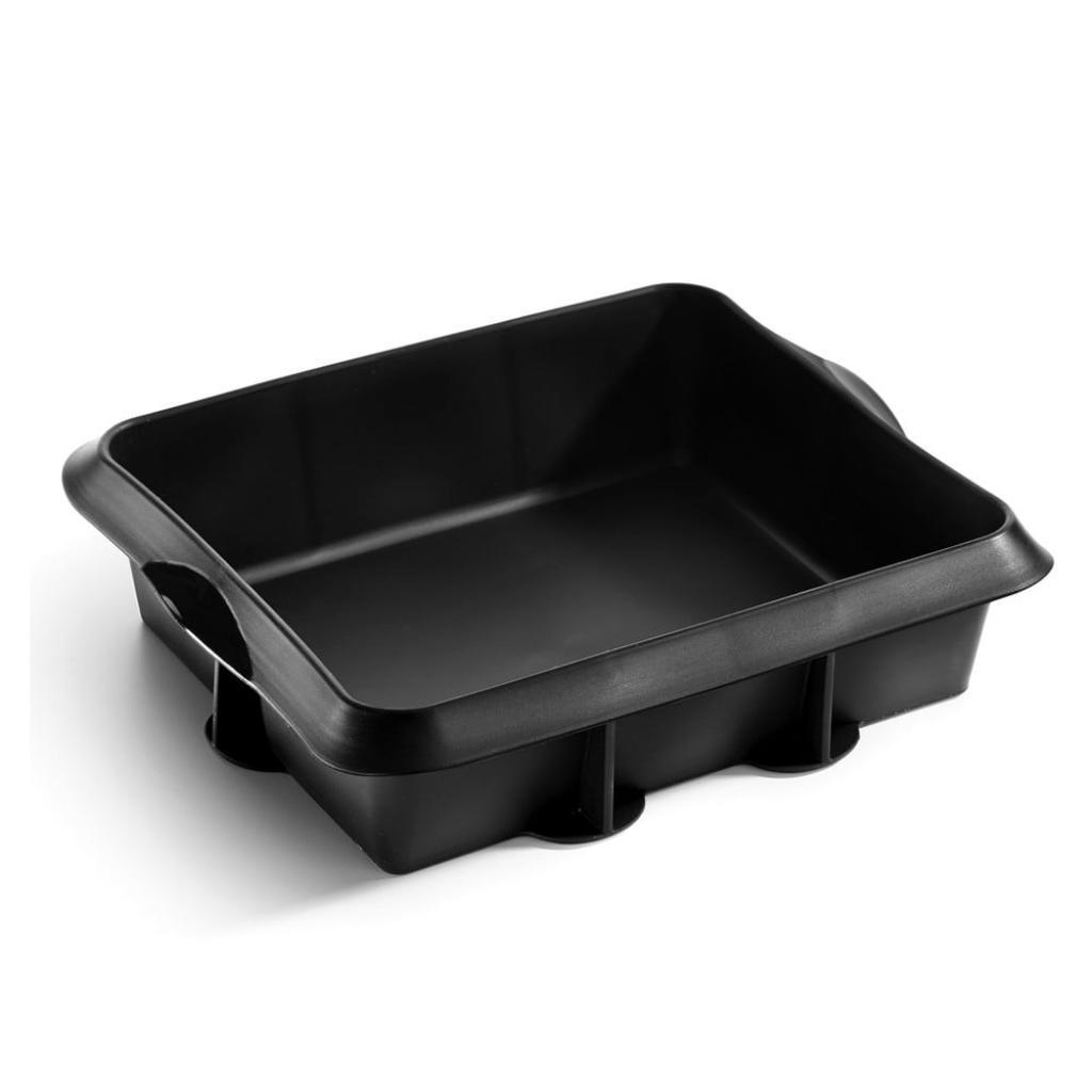 Produktové foto Černá silikonová forma na pečení Lékué, 25 x 20 cm