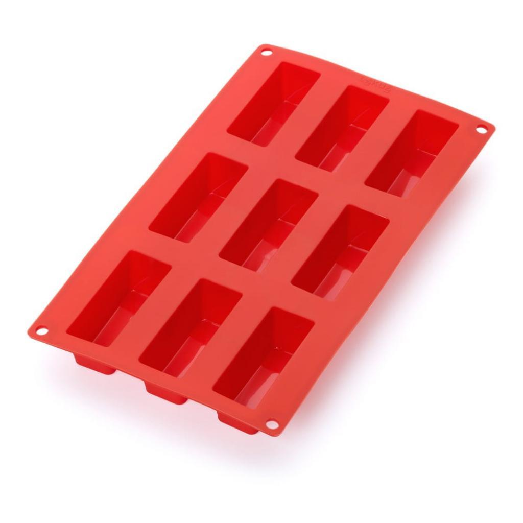 Produktové foto Červená silikonová forma na 9 mini dezertů Lékué Cake