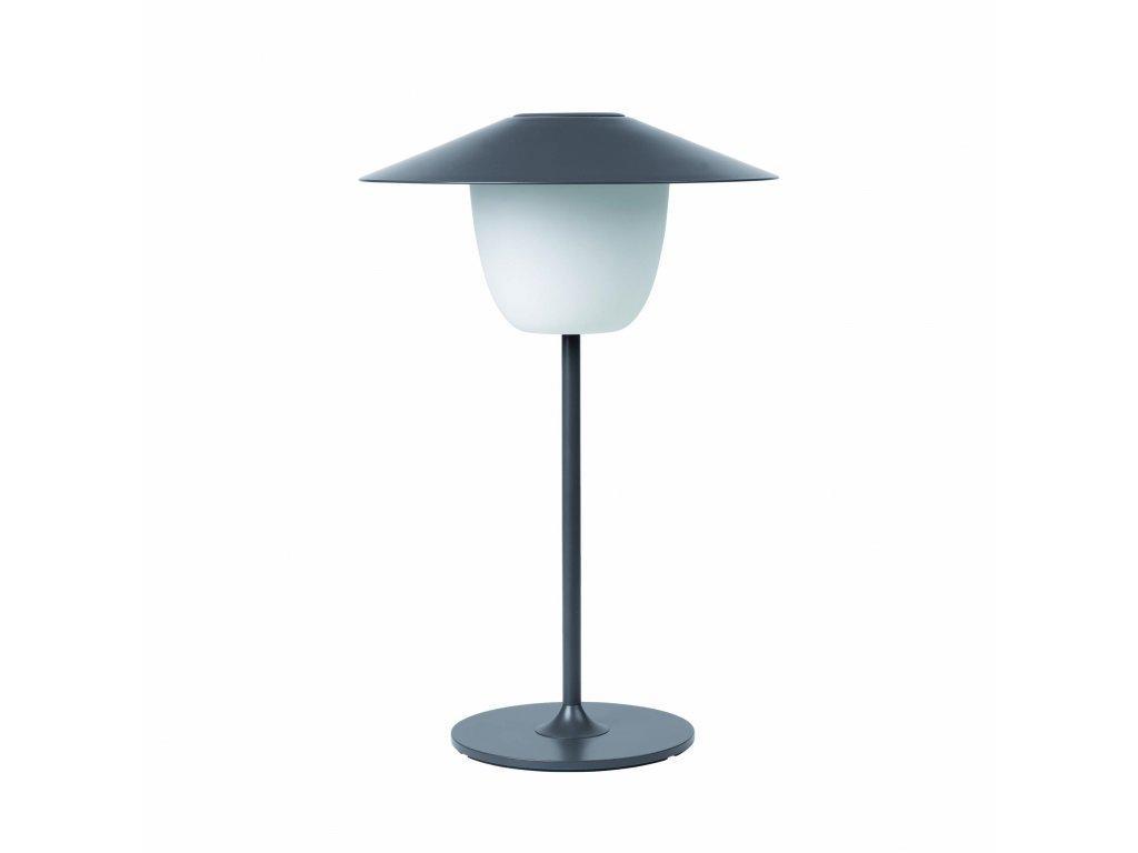 Produktové foto Přenosná stojací LED lampa Blomus nízká hřejivě šedá