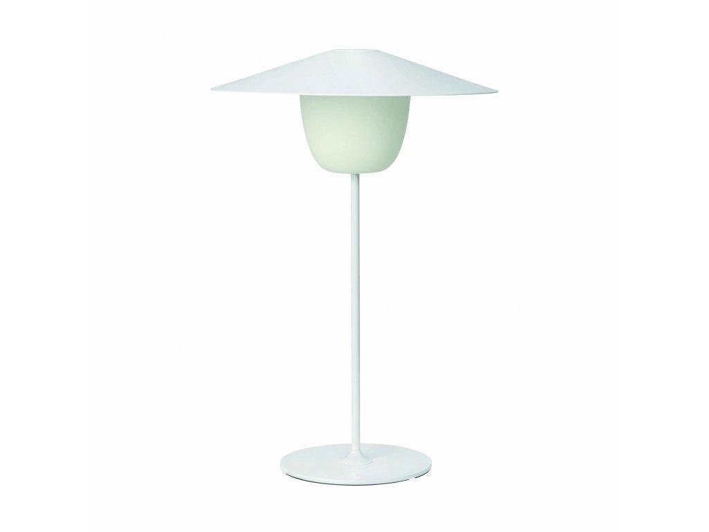Produktové foto Přenosná stojací LED lampa Blomus střední bílá
