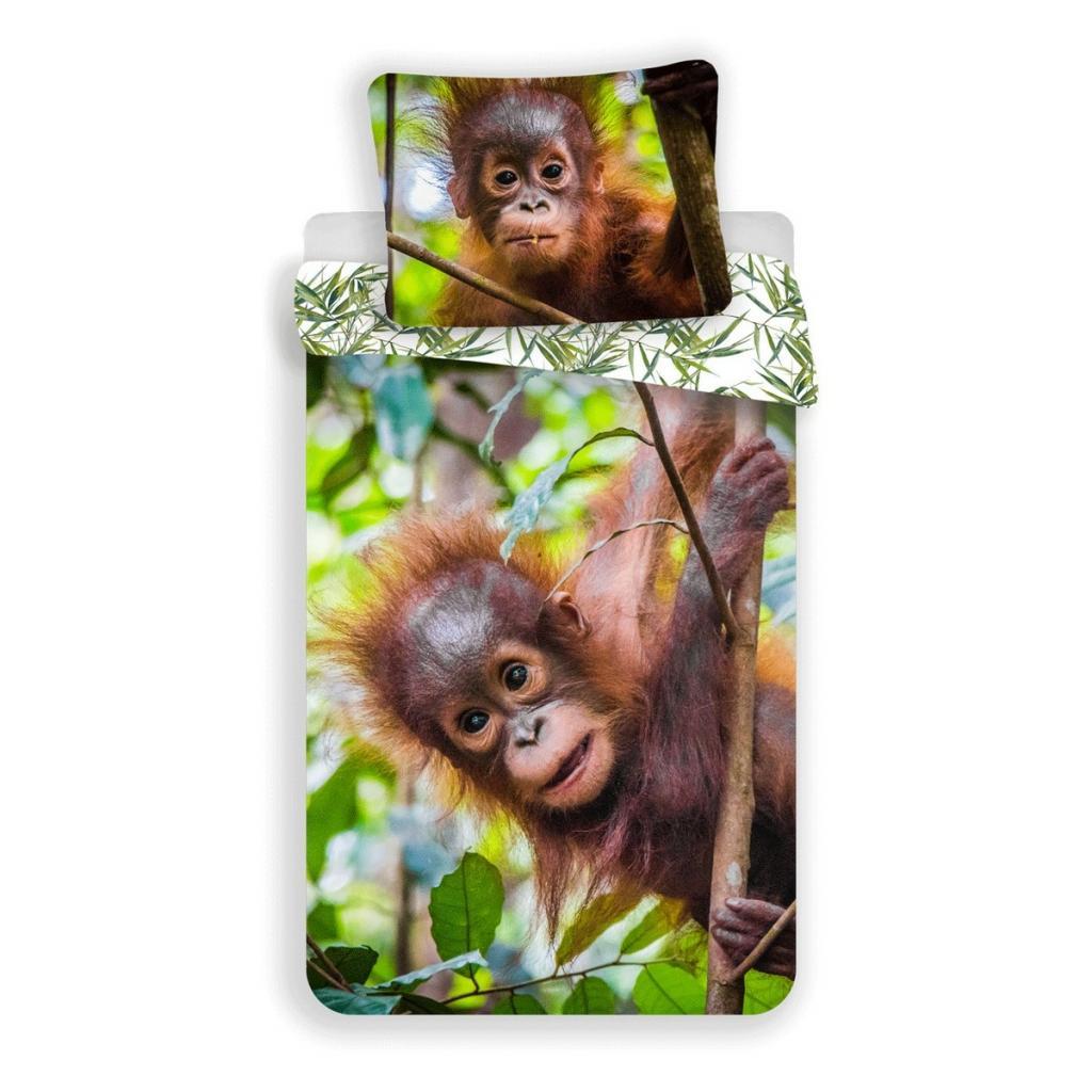 Produktové foto Jerry Fabrics Bavlněné povlečení Orangutan, 140 x 200 cm, 70 x 90 cm