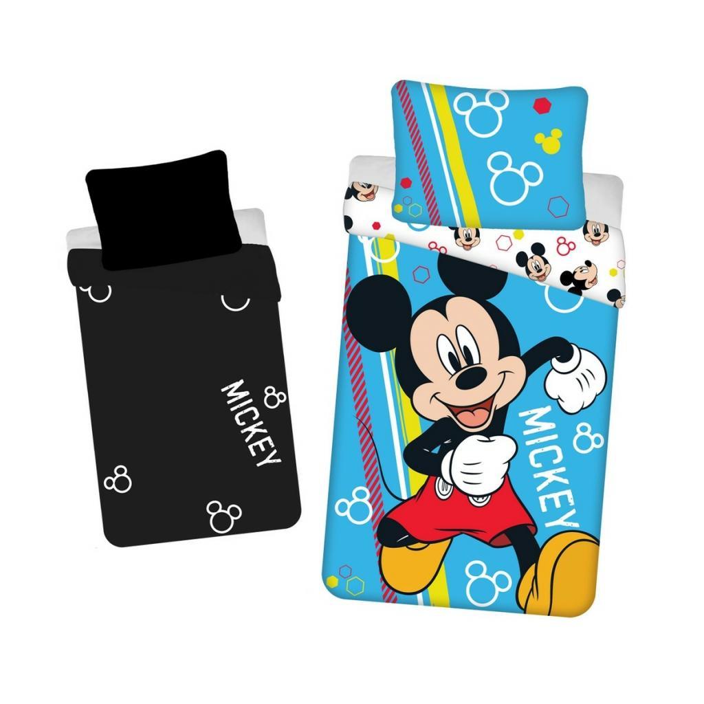 Produktové foto Jerry Fabrics Dětské bavlněné povlečení Mickey happy svíticí, 140 x 200 cm, 70 x 90 cm