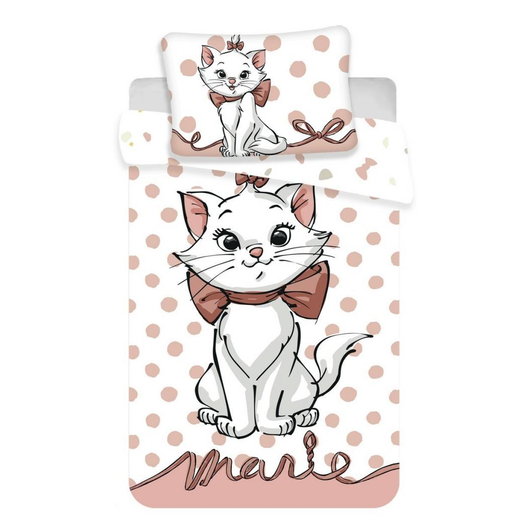 Produktové foto Jerry Fabrics Dětské bavlněné povlečení do postýlky Marie cat dots 02 baby, 100 x 135 cm, 40 x 60 cm
