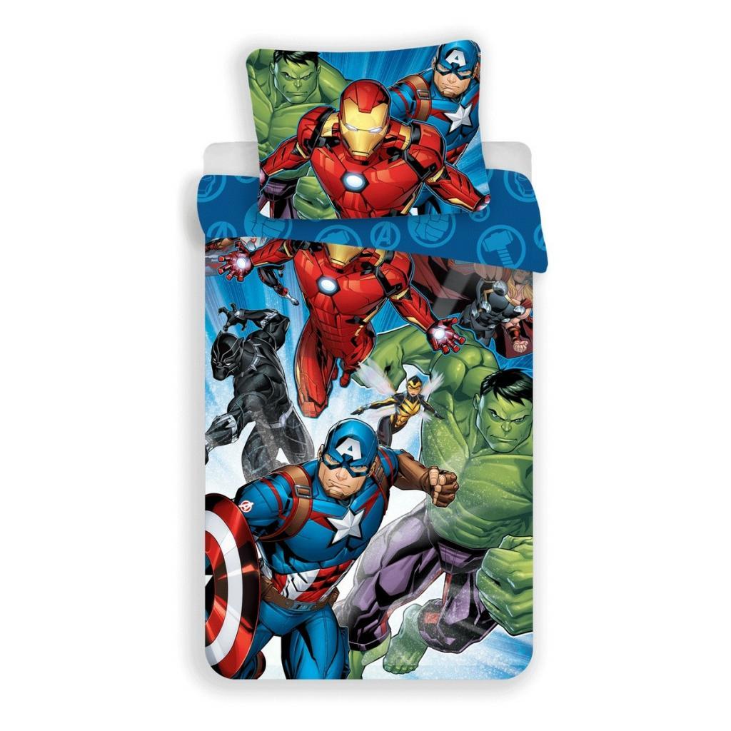 Produktové foto Jerry Fabrics Bavlněné povlečení Avengers Brands 02, 140 x 200 cm, 70 x 90 cm
