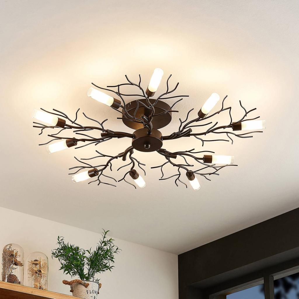 Produktové foto Lindby Lindby Bigna stropní světlo, deset žárovek