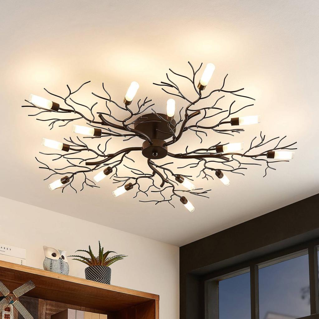 Produktové foto Lindby Lindby Bigna stropní světlo, patnáct žárovek