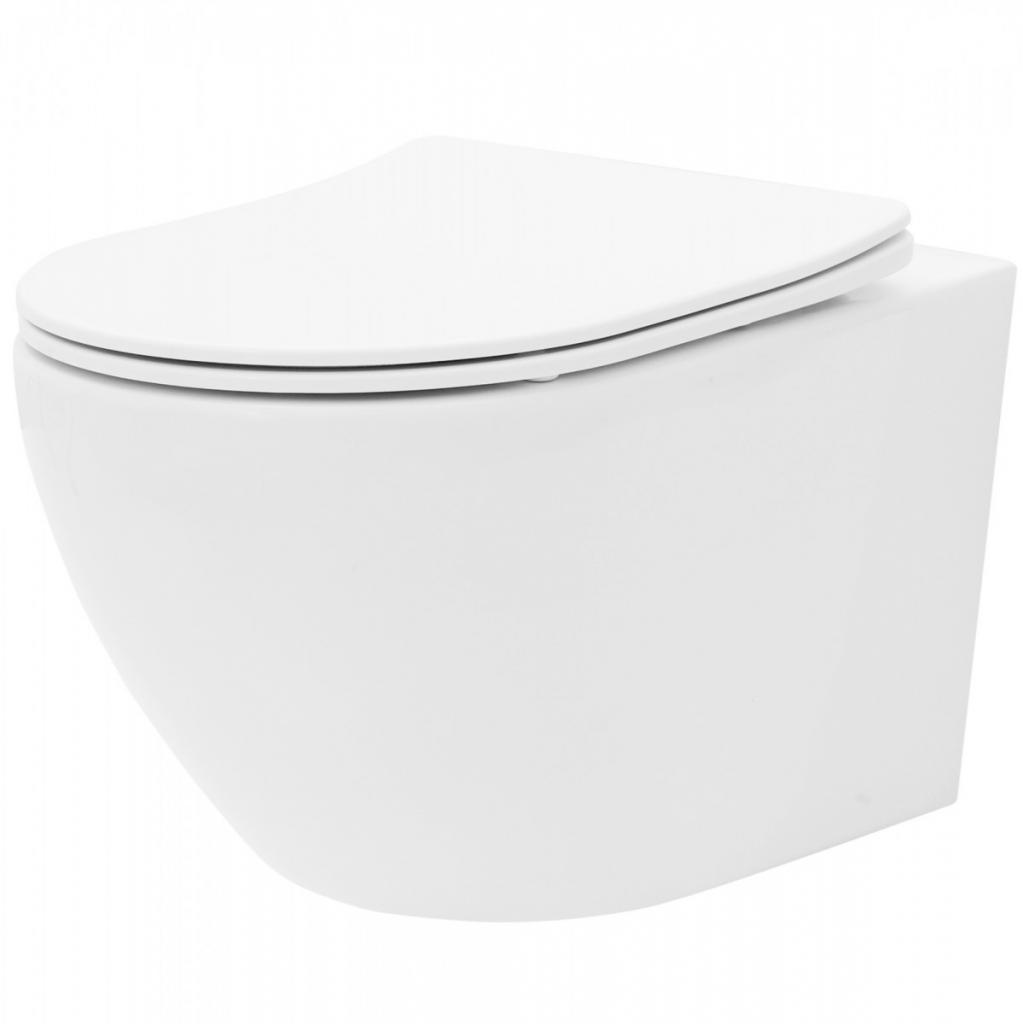 Produktové foto REA Závěsná WC mísa Carlo Flat Mini