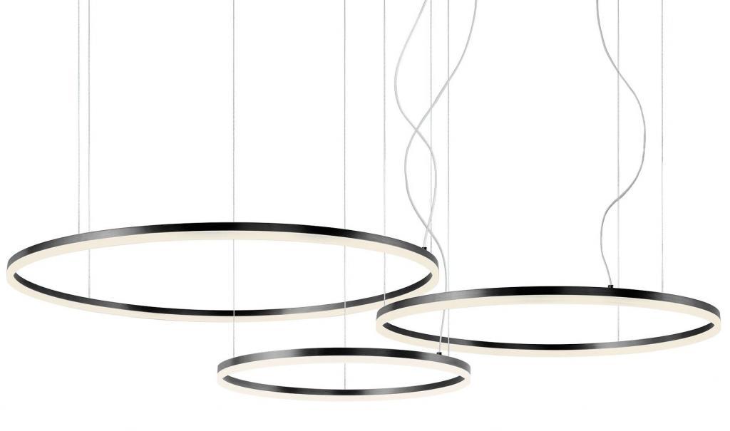 Produktové foto Redo 01-1954-DALI Orbit direct, závěsné kruhové svítidlo, 42+55+66W LED 3000K stmívatelné DALI, černá, prům. 60+80+100cm