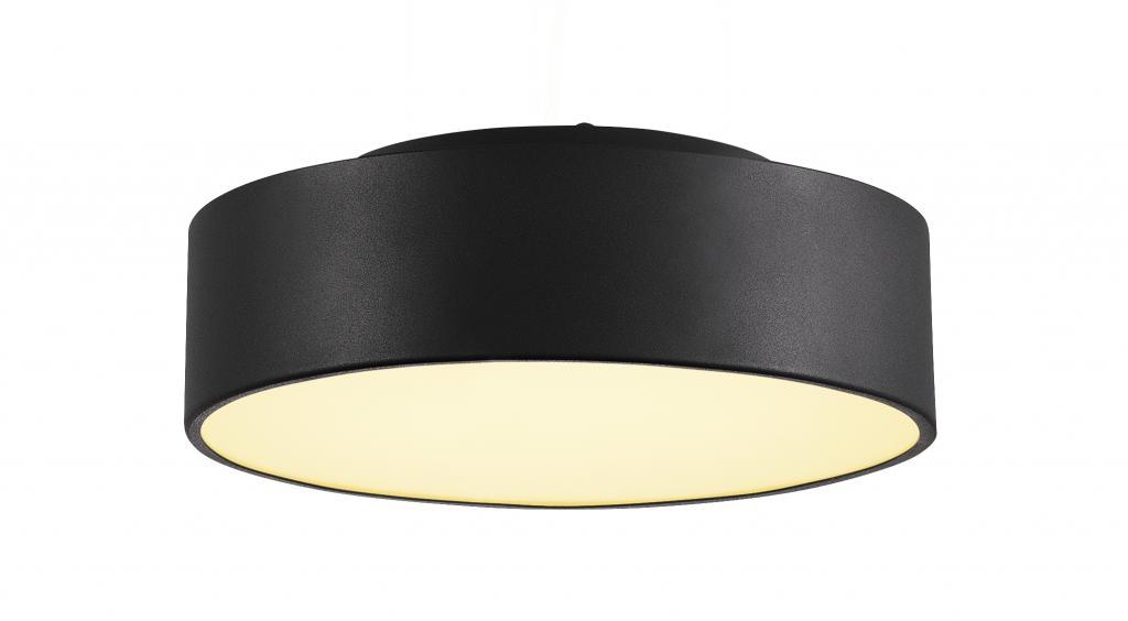 Produktové foto SLV 135020 Medo 30, černé stropní svítidlo, LED 15,3W 3000K, průměr 28 cm, s možností zavěšení