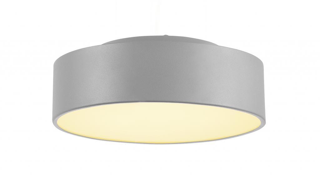 Produktové foto SLV 135024 Medo 30, šedé stropní svítidlo, LED 15,3W 3000K, průměr 28 cm, s možností zavěšení