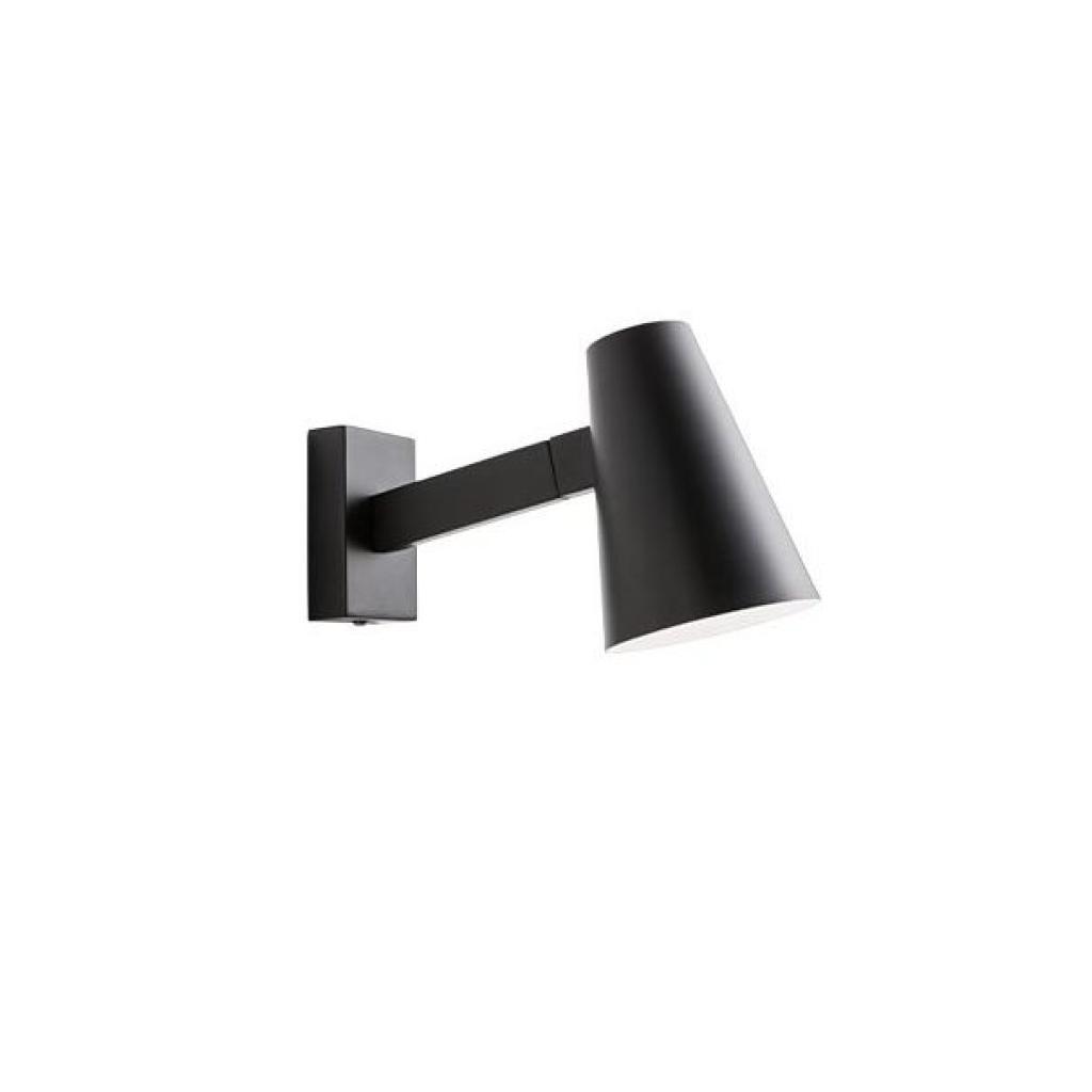 Produktové foto Redo 01-1553 Mingo, černá nástěnná lampa v severském stylu s vypínačem, 1x28W E14, délka 26cm