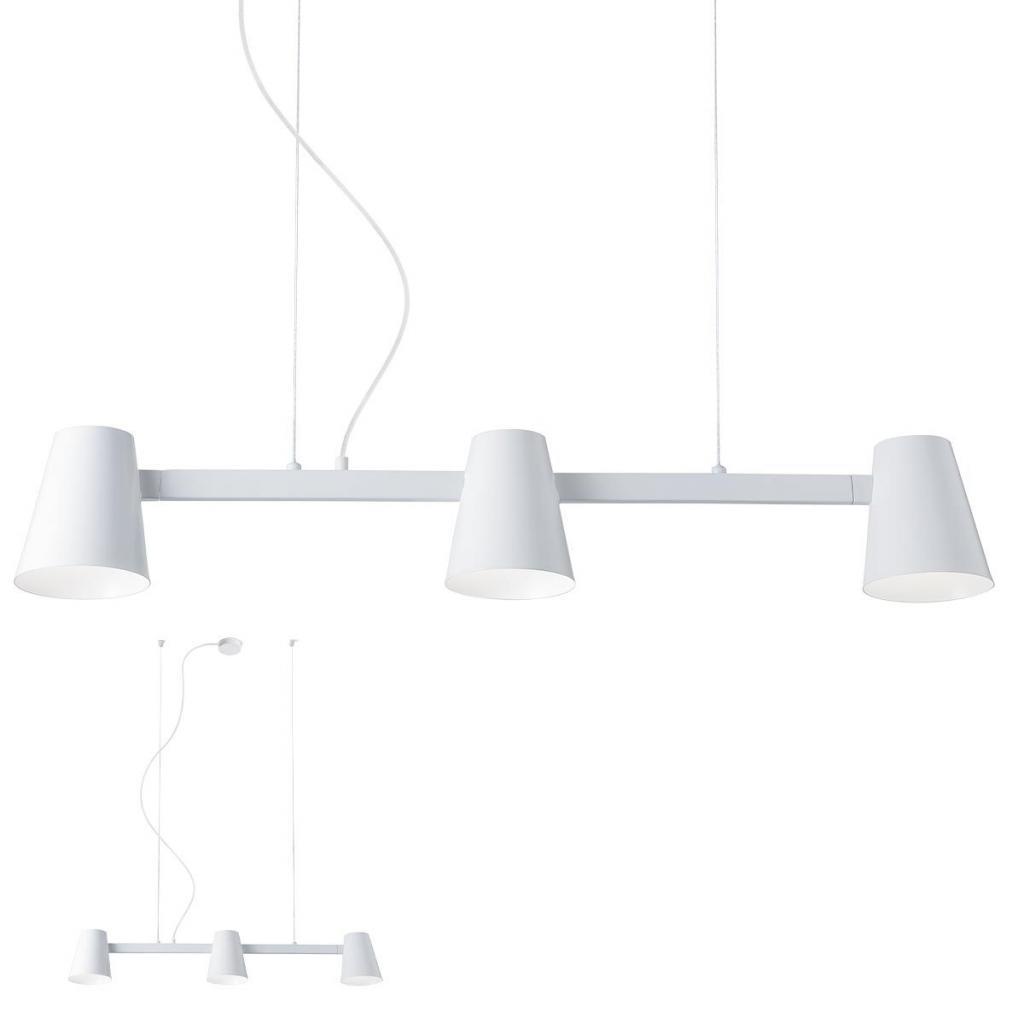 Produktové foto Redo 01-1554 Mingo, bílé závěsná lampa v severském stylu, 3x42W E27, délka 100cm