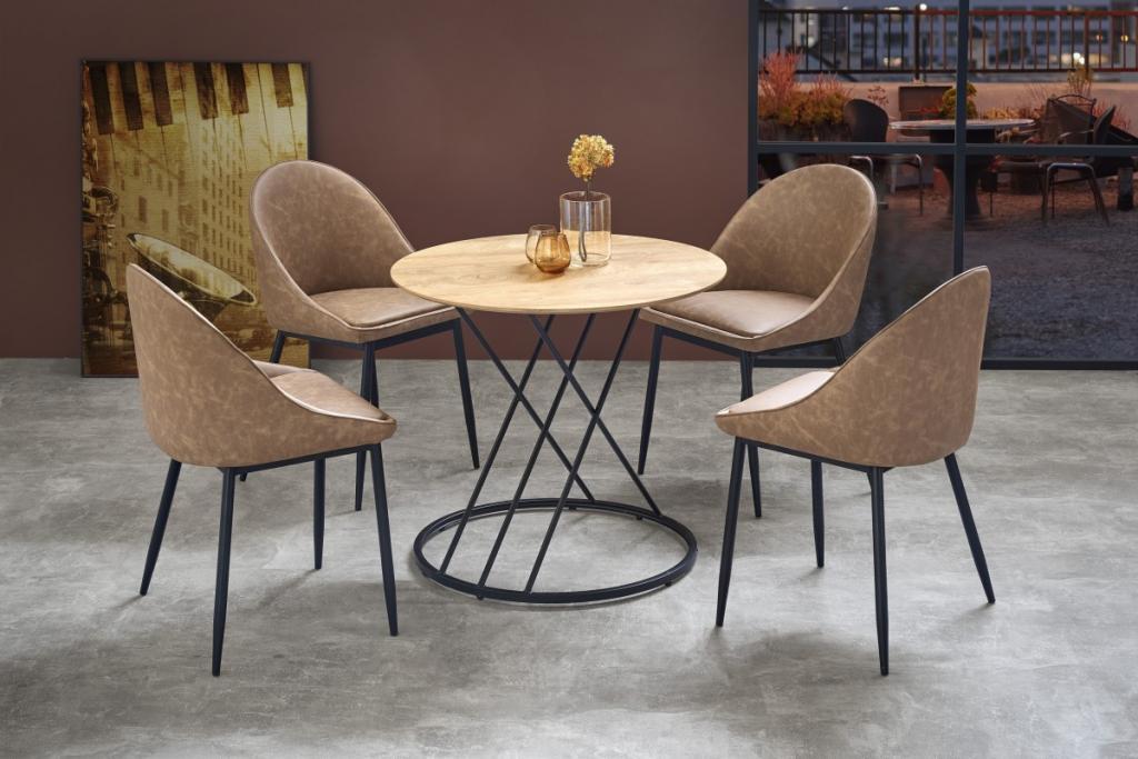 Produktové foto Halmar Kulatý jídelní stůl Naty hnědý