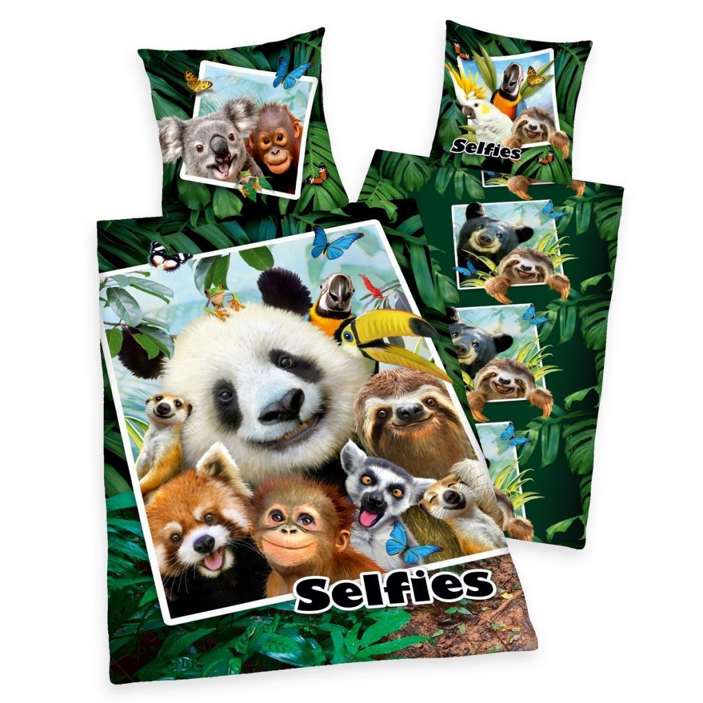 Produktové foto Herding Dětské bavlněné povlečení Selfies, 140 x 200 cm, 70 x 90 cm