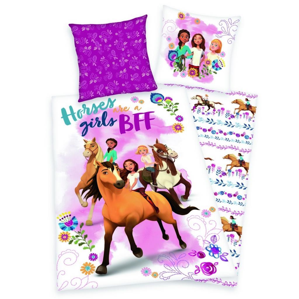 Produktové foto Herding Dětské bavlněné povlečení Spirit Horses girls, 140 x 200 cm, 70 x 90 cm
