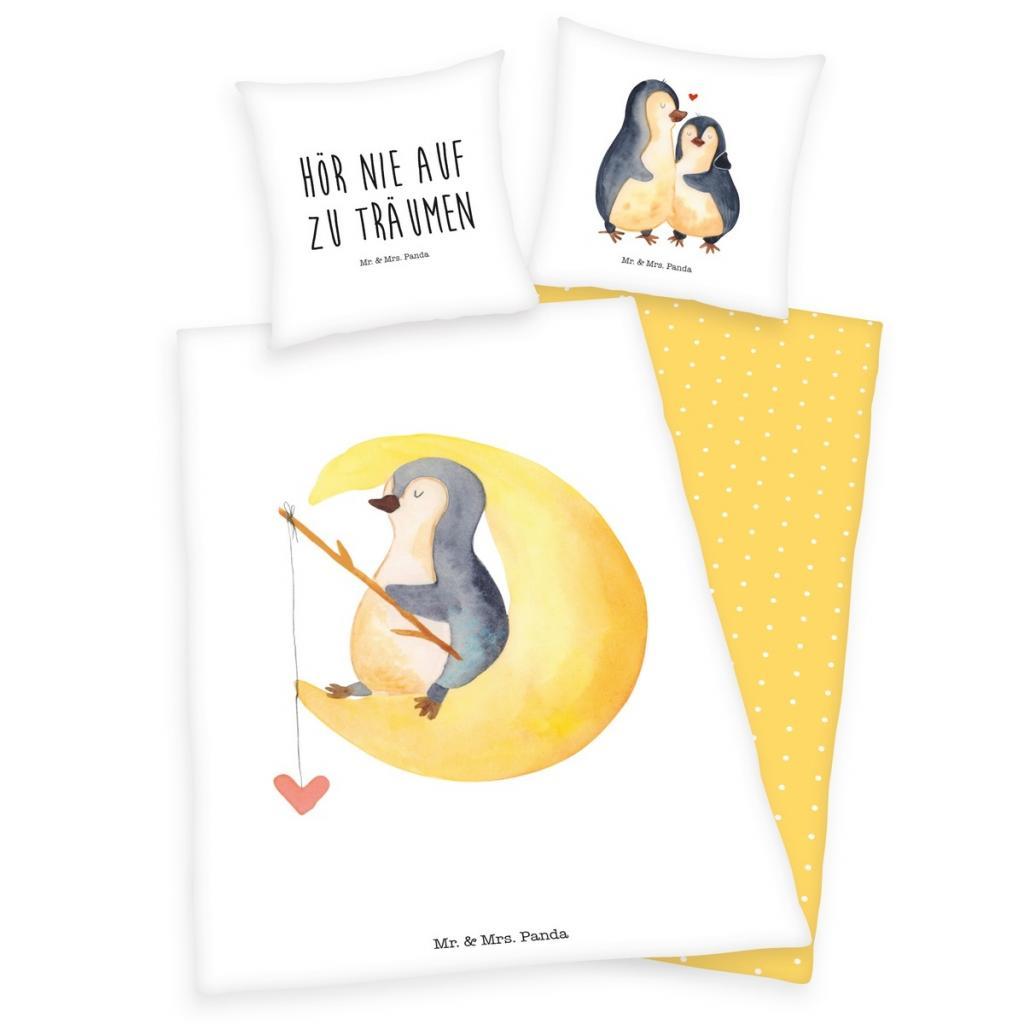 Produktové foto Herding Dětské bavlněné povlečení Tučňáci, 140 x 200 cm, 70 x 90 cm