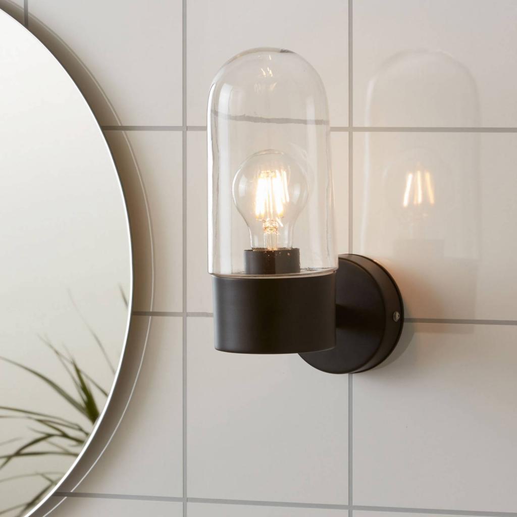 Produktové foto Markslöjd Nástěnné světlo Zen, čiré sklo, černá