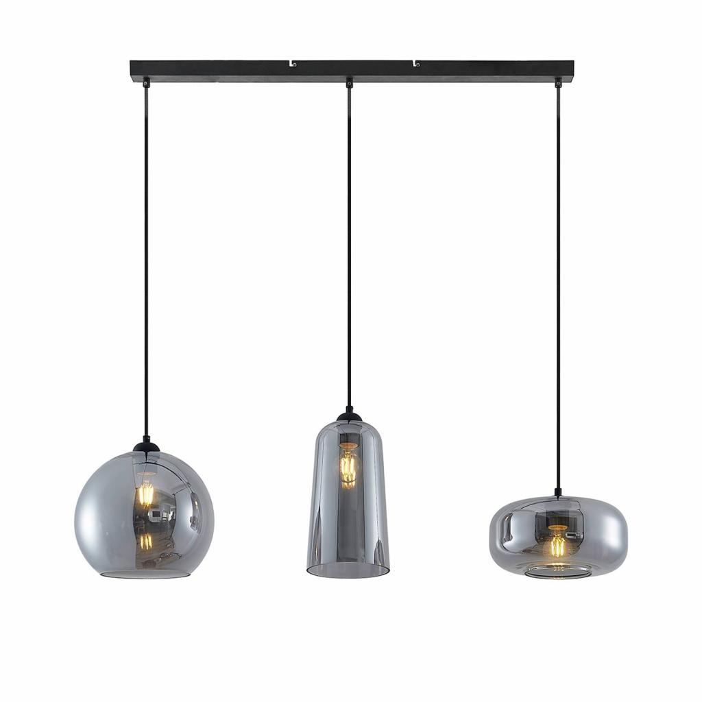 Produktové foto Lucande Lucande Wilja závěsné světlo, 3zdrojové, šedá