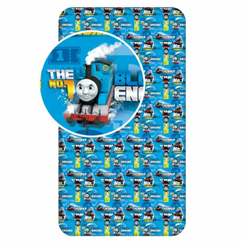 Produktové foto Jerry Fabrics Dětské bavlněné prostěradlo Mašinka Tomáš blue 04, 90 x 200 cm