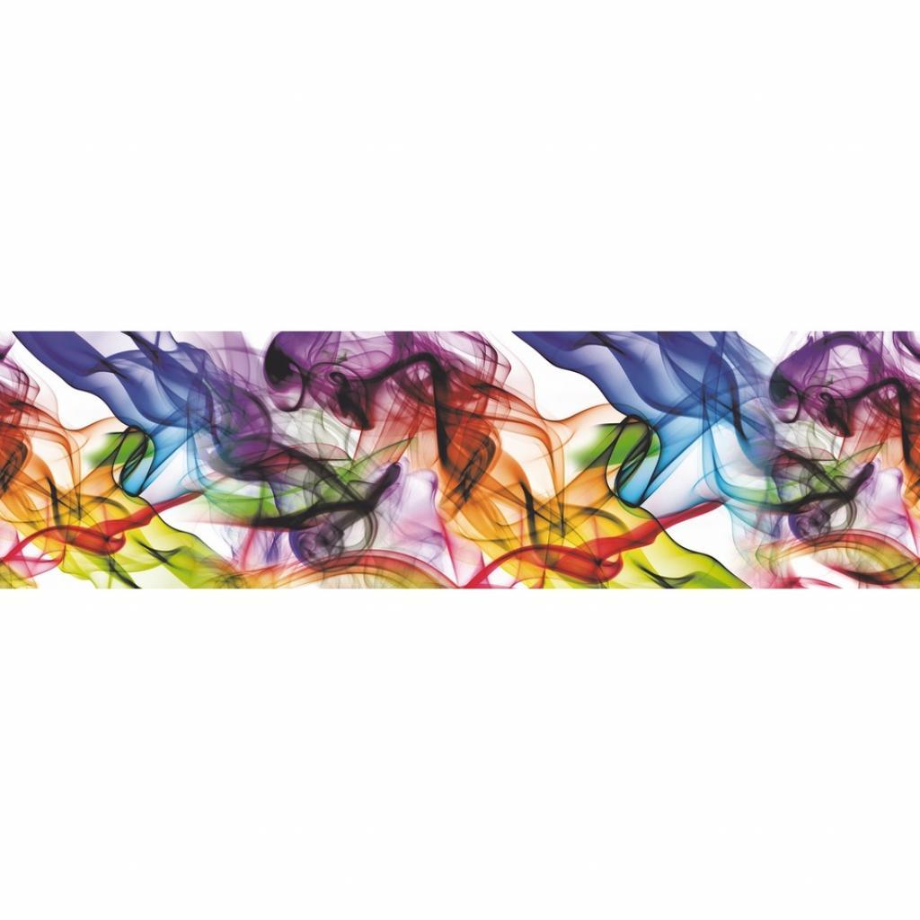 Produktové foto AG Art Samolepicí bordura Barevný kouř, 500 x 14 cm