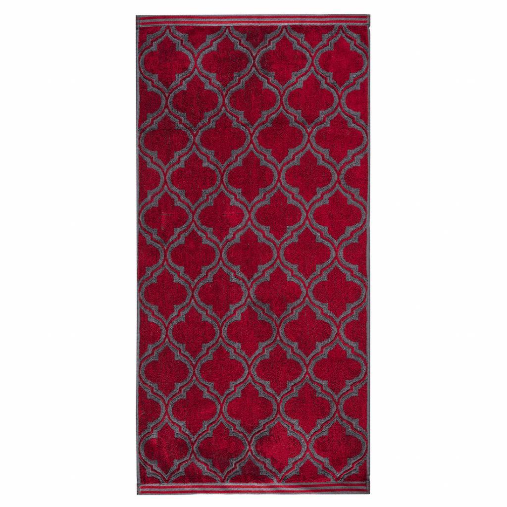 Produktové foto JAHU Ručník Castle červená, 50 x 100 cm