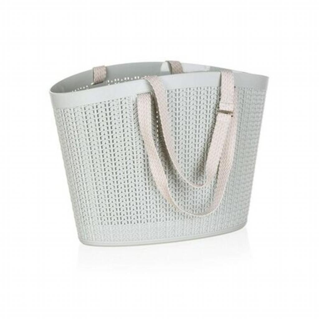 Produktové foto Happy Green Ratanová taška, šedá