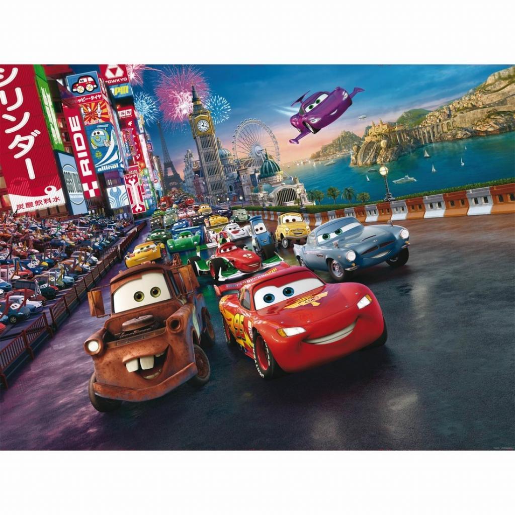 Produktové foto AG Art Dětská fototapeta XXL Blesk McQueen a jeho přátelé 360 x 270 cm, 4 díly