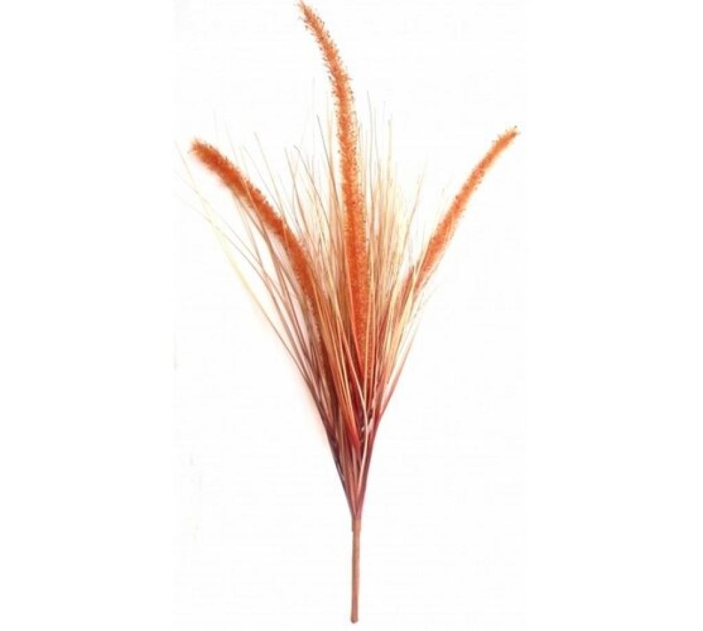 Produktové foto Umělá kytice trávy oranžová