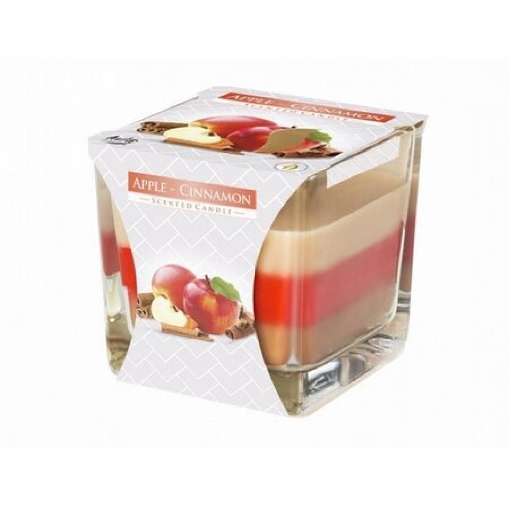 Produktové foto Svíčka ve skle Duha Jablko a skořice, 170 g