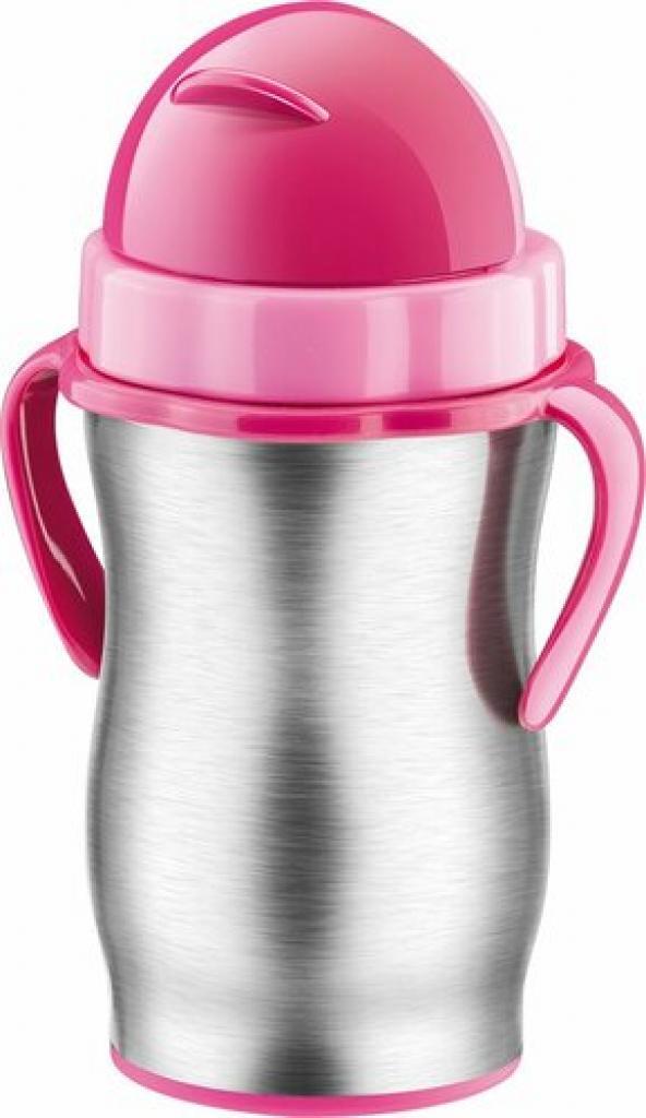 Produktové foto Tescoma BAMBINI dětská termoska s brčkem, růžová