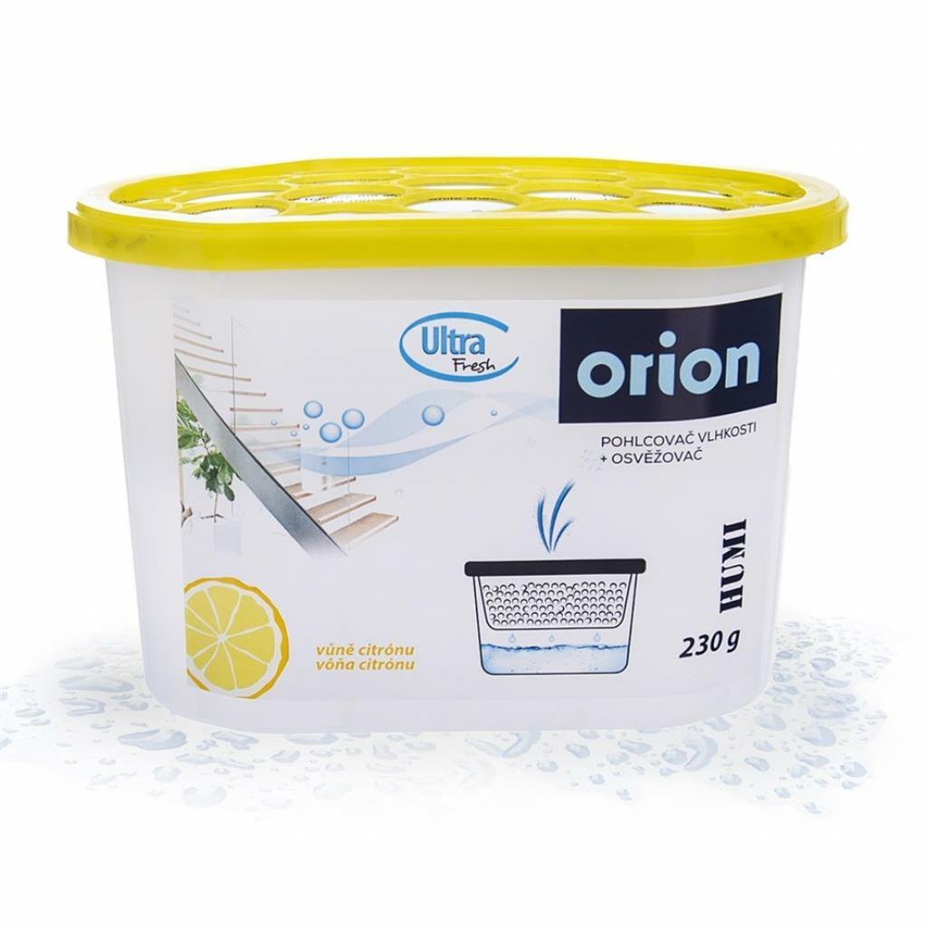 Produktové foto Pohlcovač vlhkosti a osvěžovač vzduchu citrón orion 832340