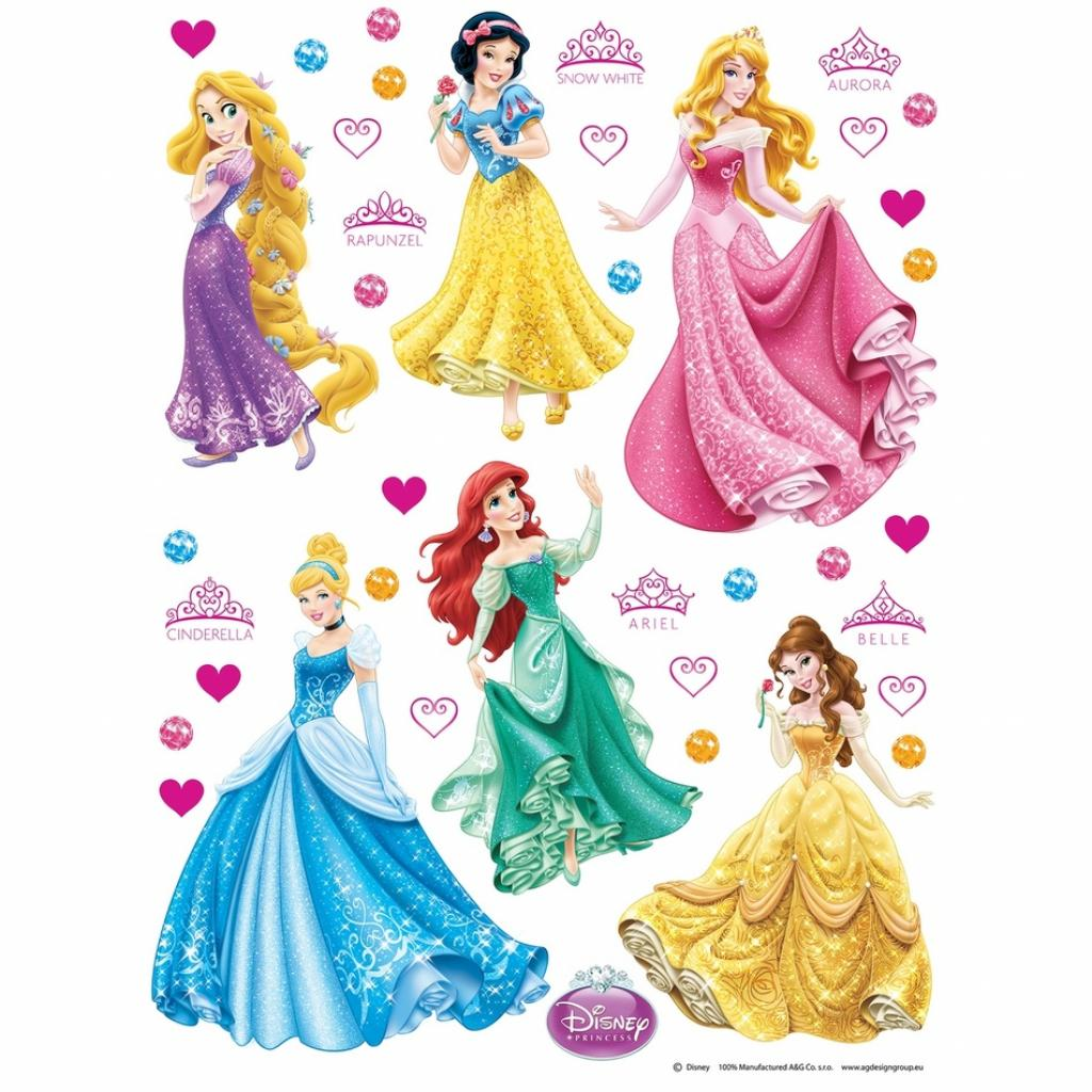 Produktové foto AG Art Samolepicí dekorace Princezny, 30 x 30 cm