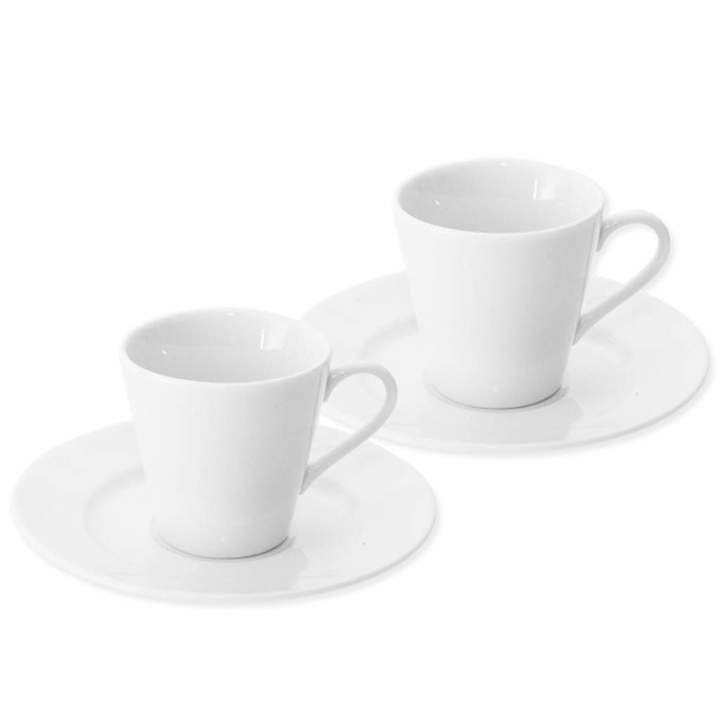 Produktové foto Orion Porcelánový šálek s podšálkem Espresso, 90 ml, 2ks
