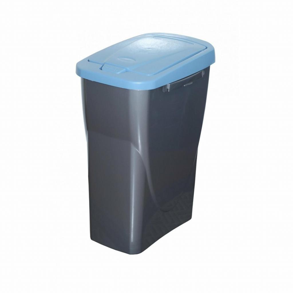 Produktové foto Koš na tříděný odpad modré víko; 42x31x21 cm; 15 l; plast