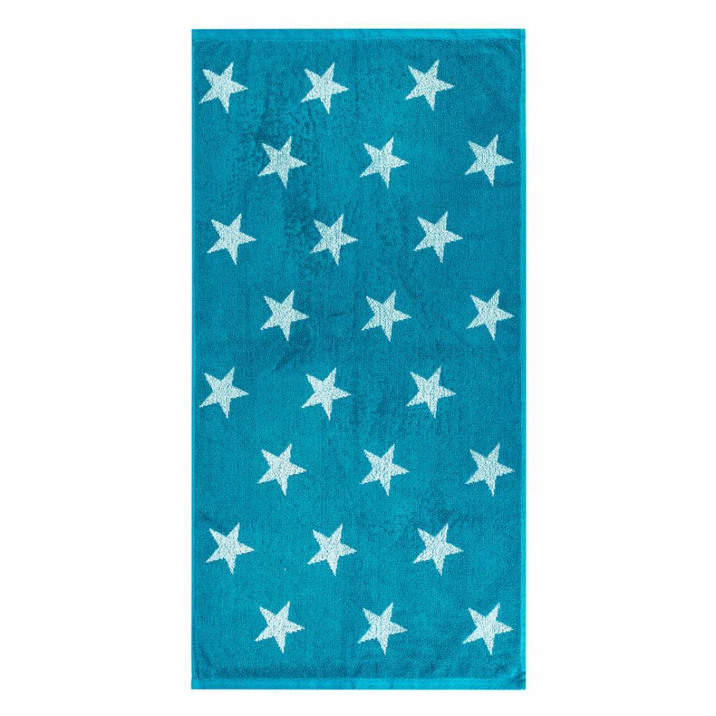 Produktové foto JAHU Ručník Stars tyrkysová, 50 x 100 cm