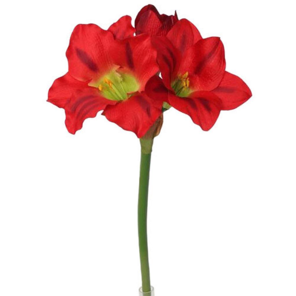 Produktové foto Umělá Amarylis červená, 52 cm