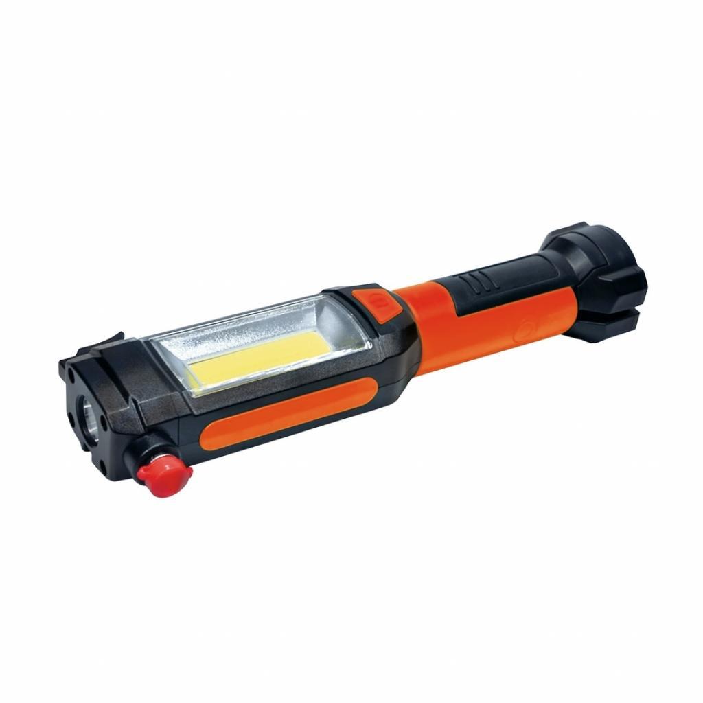 Produktové foto Solight WL112 Multifunkční LED světlo 3 W COB + 1 W LED, oranžová