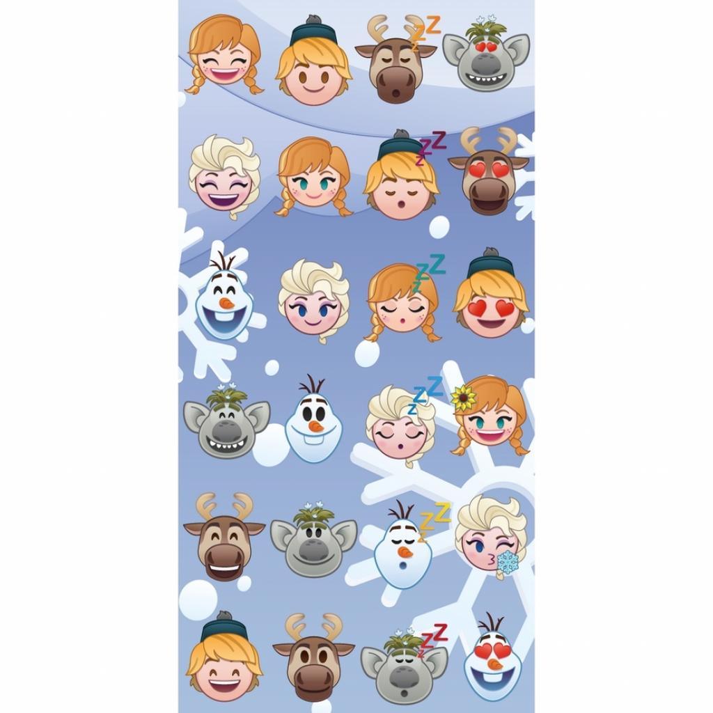 Produktové foto Jerry Fabrics Osuška Emoji Ledové království Frozen, 70 x 140 cm