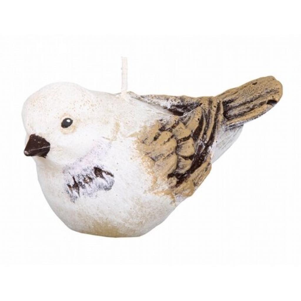 Produktové foto Dekorativní svíčka ptáček, béžová