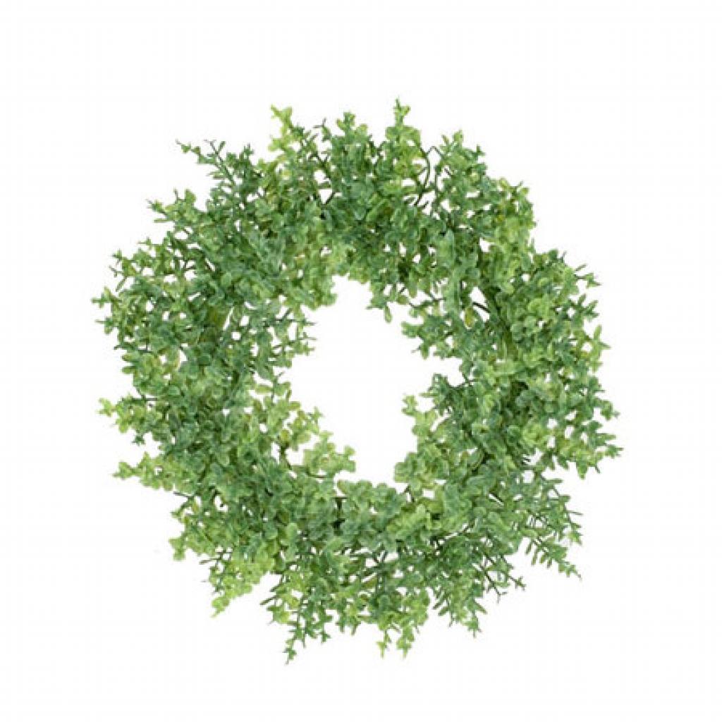 Produktové foto Umělý věnec Buxus zelená, pr. 16 cm