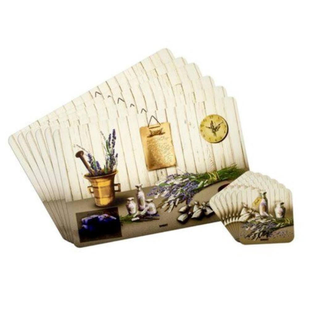 Produktové foto Banquet Prostírání Lavender, 6 ks 43 x 28 cm, 6 ks 10 x 10 cm