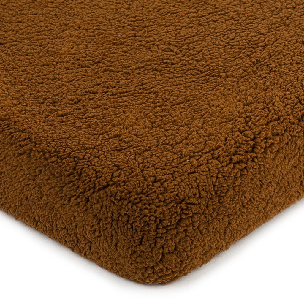 Produktové foto 4Home Prostěradlo beránek tmavě hnědá, 90 x 200 cm