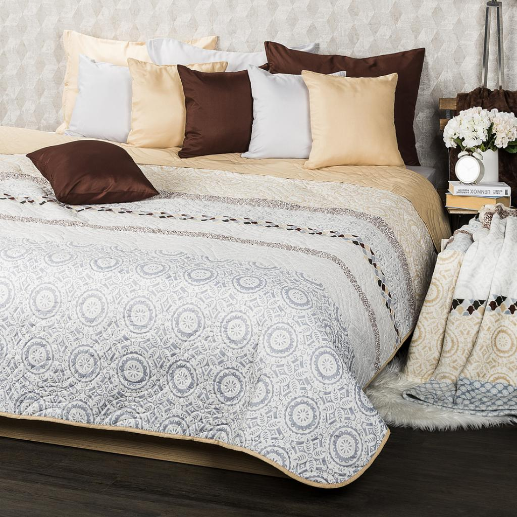 Produktové foto 4Home Přehoz na postel Circles béžová, 220 x 240 cm