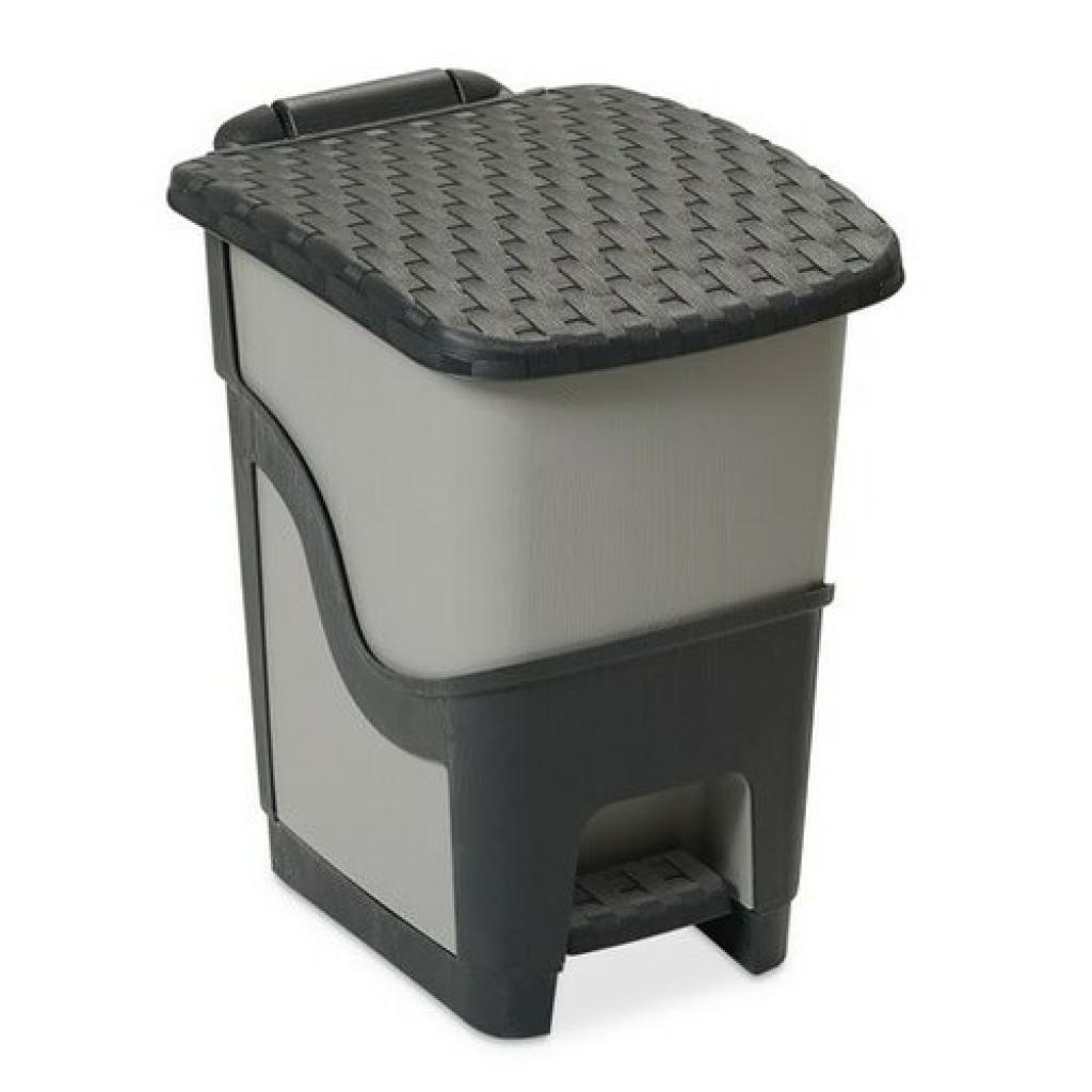 Produktové foto Ratanový odpadkový koš 18 l, antracit