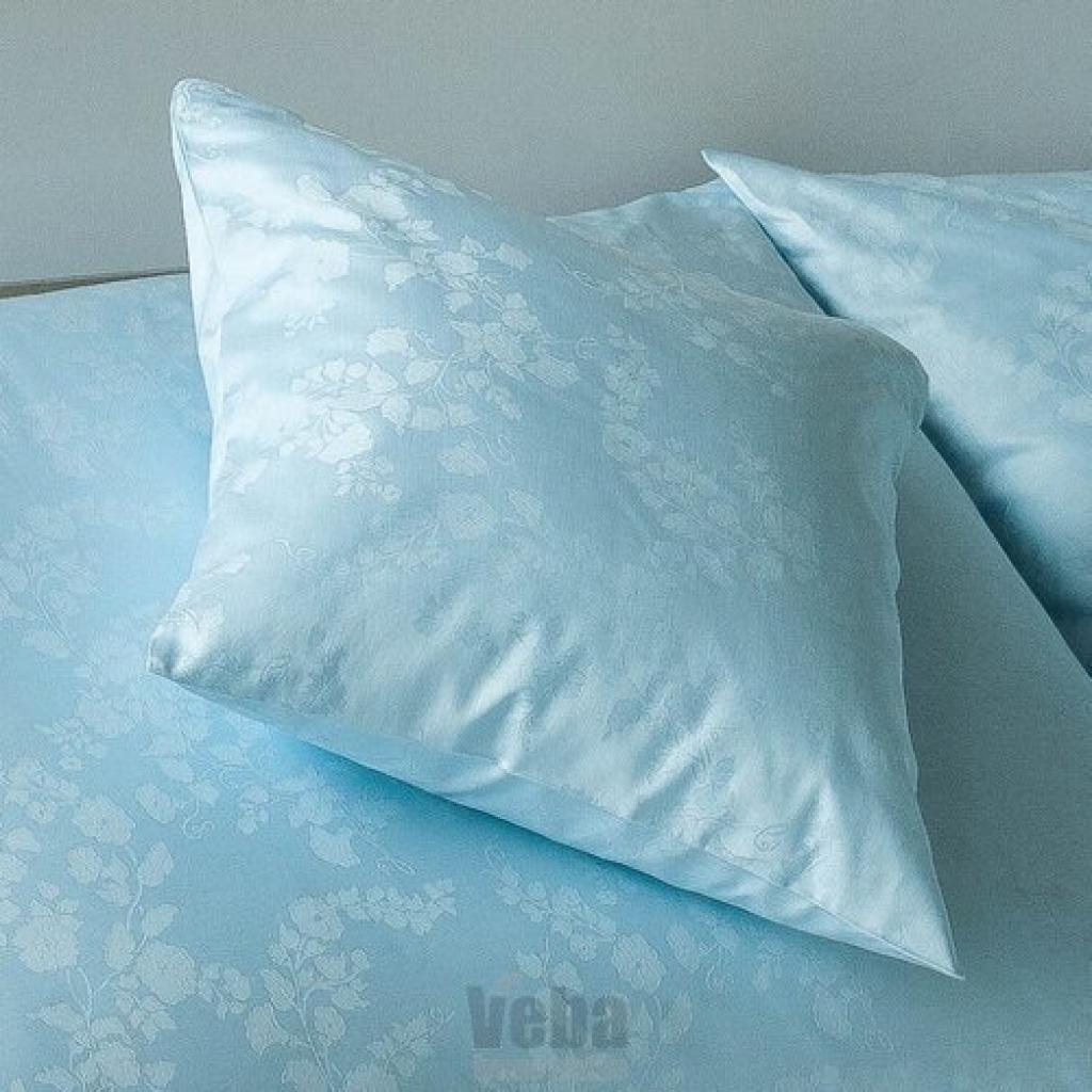 Produktové foto Veba Damaškový povlak na polštářek Bohema Svlačec modrá, 40 x 40 cm