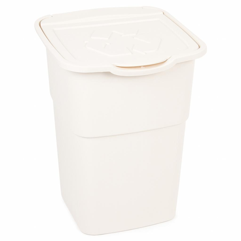 Produktové foto Koš na tříděný odpad Eco Master 50 l, bílá