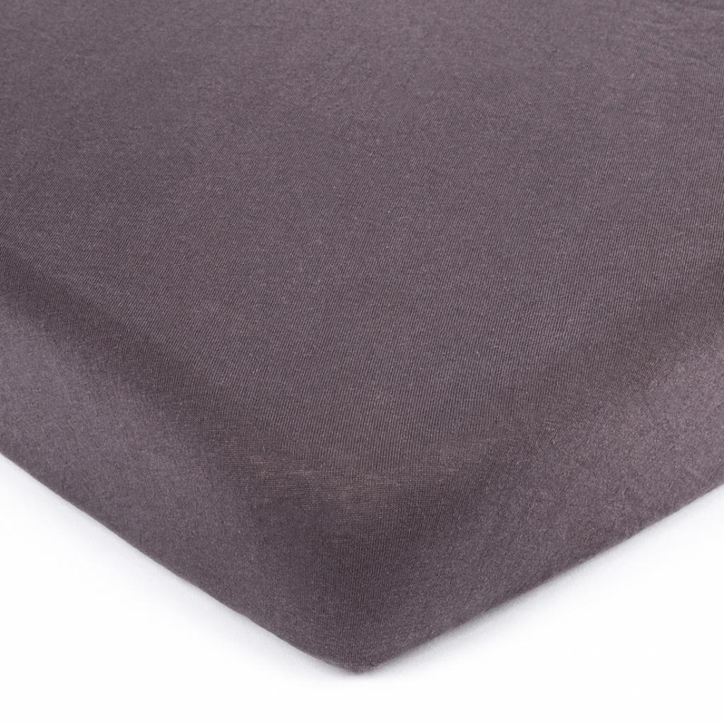 Produktové foto 4Home jersey prostěradlo tmavě šedá, 90 x 200 cm