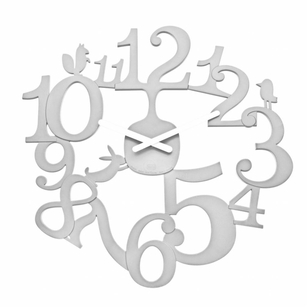 Produktové foto Koziol Nástěnné hodiny PI:P bílá, pr. 45 cm