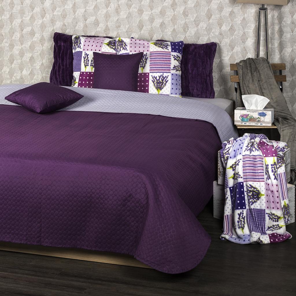 Produktové foto 4Home Přehoz na postel Doubleface fialová/světle fialová, 220 x 240 cm, 2x 40 x 40 cm